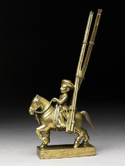 Toy soldier with horse and rocket-launchersside