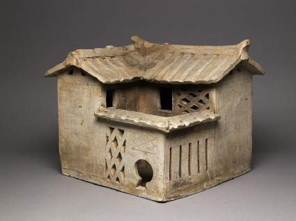 Burial model of a houseoblique