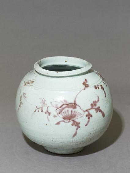 Jar with floral spraysoblique