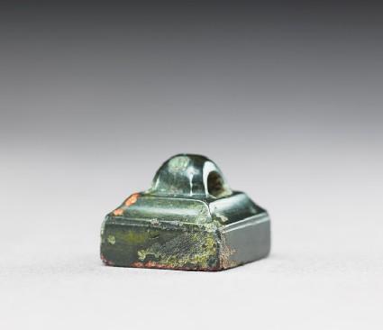 Bronze seal with loop handleside