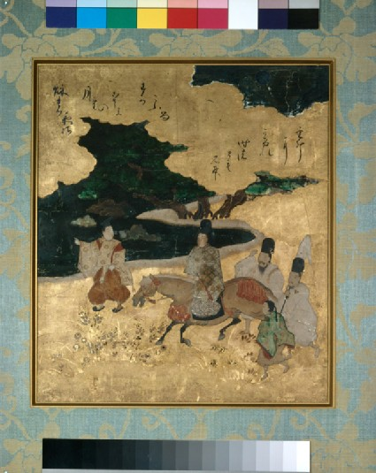 Genji travelling by night, from the Tale of Genjifront