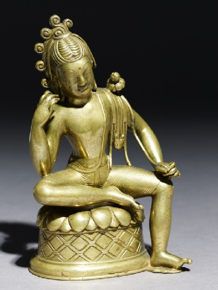 Seated figure of Padmapanioblique