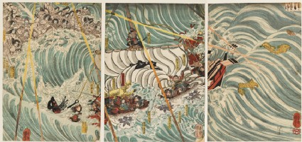 The Taira Ghosts Attacking Yoshitsune's Shipfront
