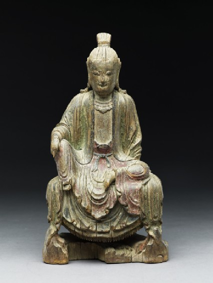 Seated figure of a bodhisattvafront