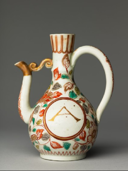 Ewer with scrolling peony decorationside