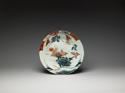 Plate with noshi, or auspicious abalone, on the rimtop