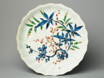 Plate with bamboo and prunus plantstop