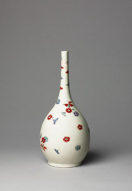 Bottle with floral spraysside