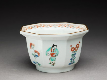 Bowl depicting Chinese boys playing musical instrumentsoblique