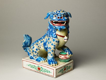 Figure of a shishi, or lion dogoblique