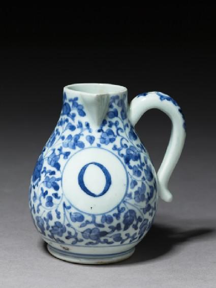 Cruet jug for oiloblique