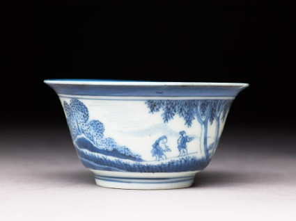 Bowl with 'Deshima Island' themeside
