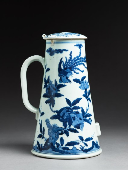 Coffee pot with phoenixes and flowersside