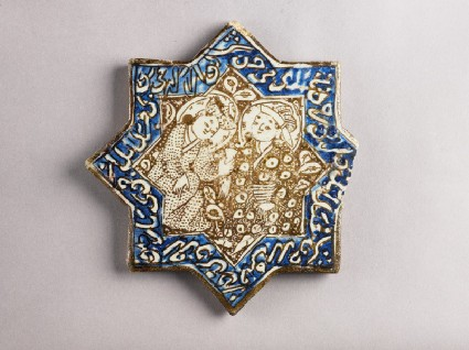 Star tile with two figures drinkingfront