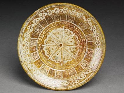 Dish with floral designtop