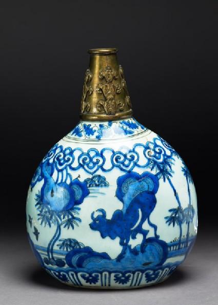 Flask with bullside