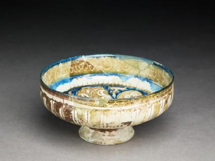 Bowl with arabesques and naskhi inscriptionoblique