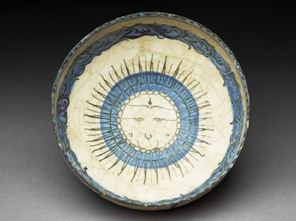 Bowl with central suntop