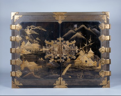 Cabinet with flowers and landscapesfront