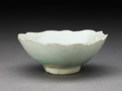 White ware cup and standoblique