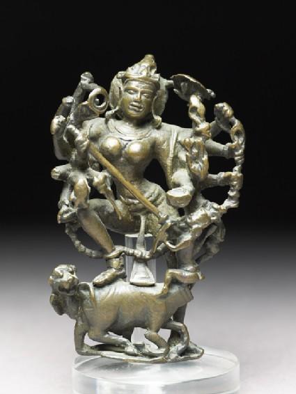 Figure of Durga slaying the Buffalo-demonfront