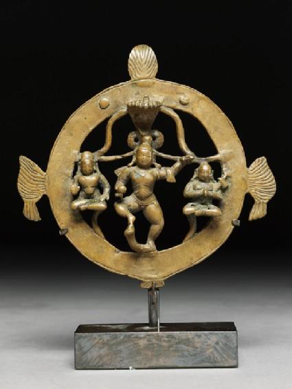 Figure of Krishna Kaliyadamana, tamer of Kaliyafront