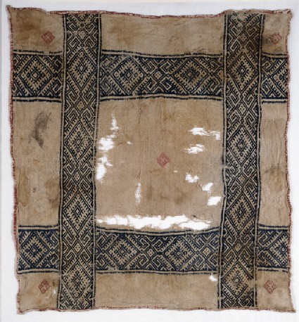 Cloth with diamond-shapes and hooksfront
