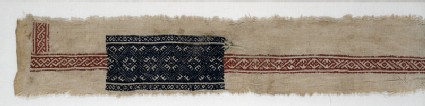 Textile fragment with interlace and diamond-shapesfront