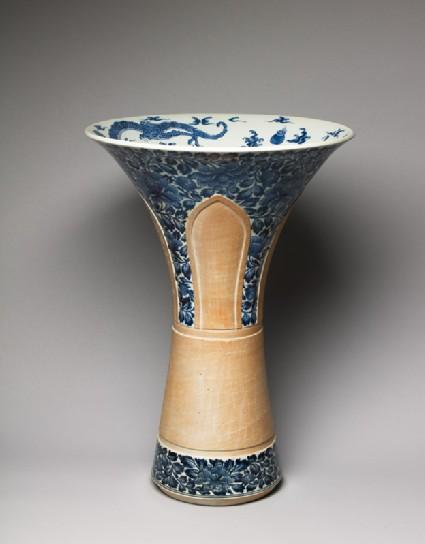 Birdcage vase without its fittingsoblique