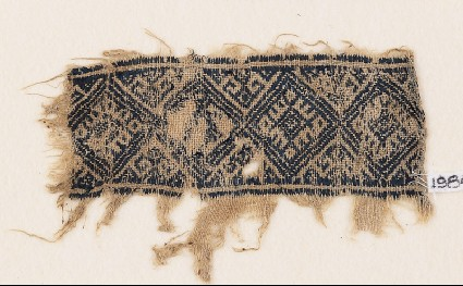 Textile fragment with diamond-shapesfront