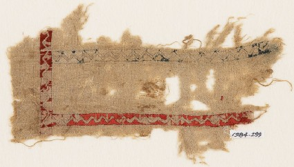 Textile fragment with zigzagsfront