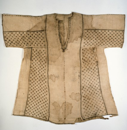 Child's tunic with bands of Y-shapesfront