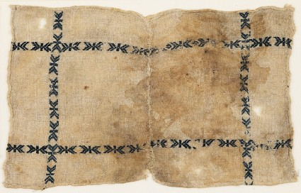 Textile fragment, possibly from a dish coverfront