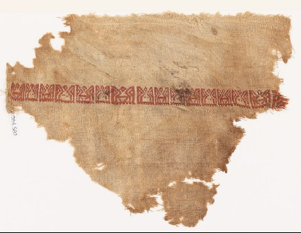 Textile fragment with band of pseudo-inscriptionfront