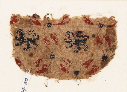 Textile fragment with lionsfront
