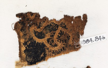 Textile fragment with Maltese crossfront