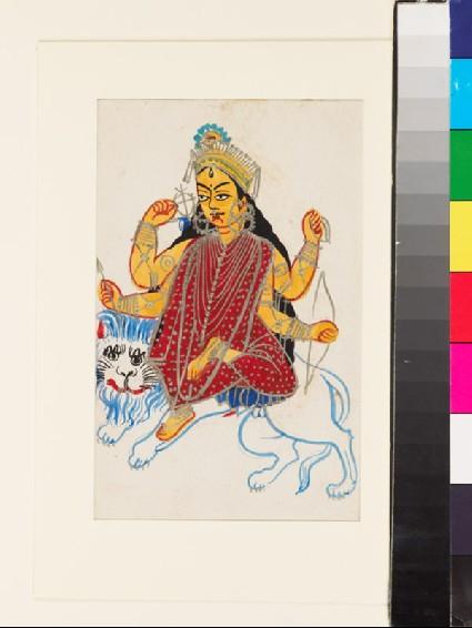 Durga Jagaddhatri on her lionfront
