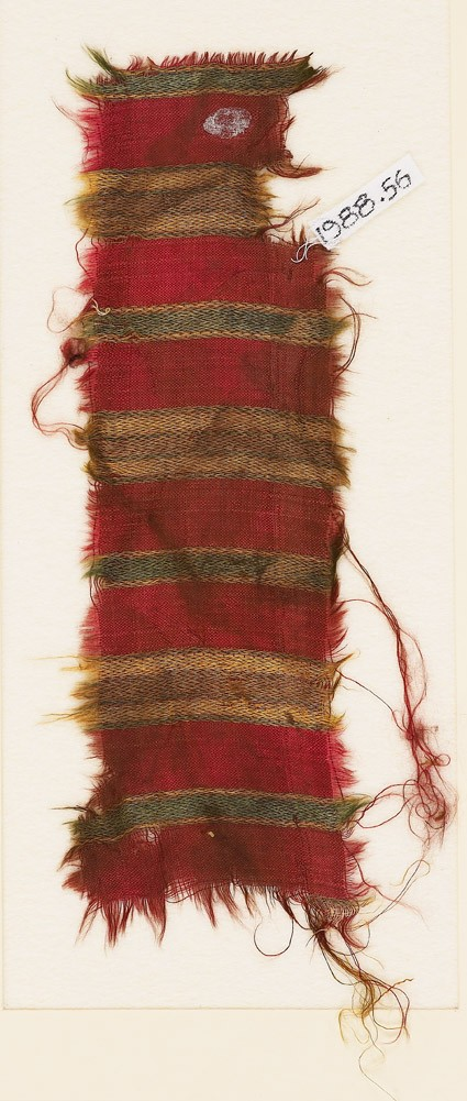 Textile fragment with stripesfront