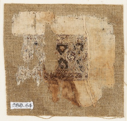Textile fragment with band of decorationfront