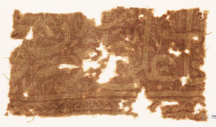 Textile fragment with scriptfront