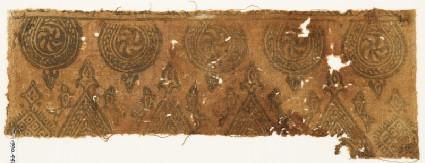 Textile fragment with spirals in braided framesfront
