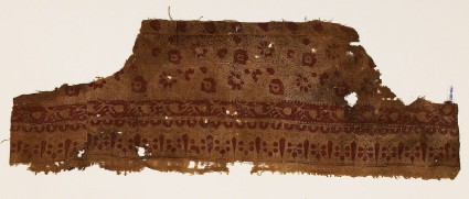 Textile fragment with flowers and vinesfront