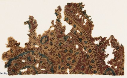 Textile fragment with part of a large medallionfront