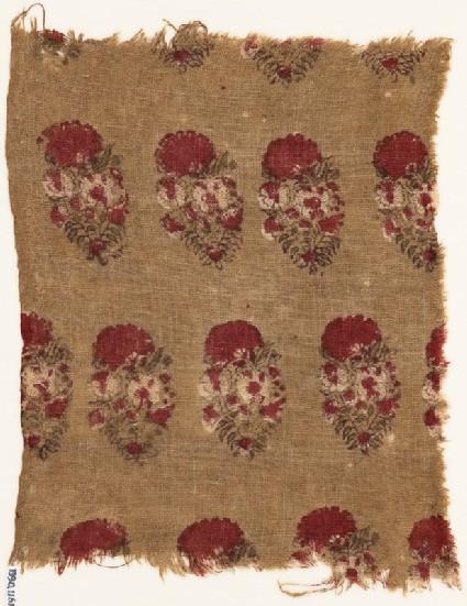 Textile fragment with flowersfront