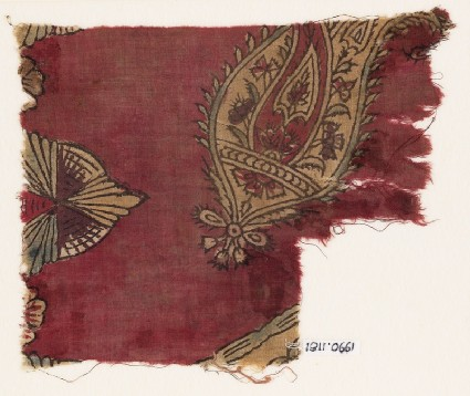 Textile fragment, possibly with butafront