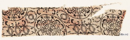 Textile fragment with circles, interlace, and tendrilsfront