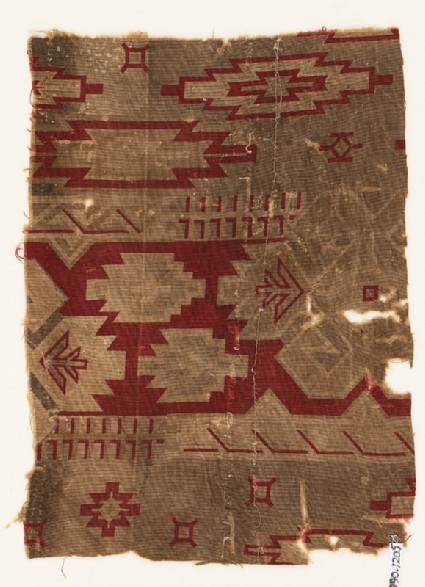 Textile fragment with geometric designfront
