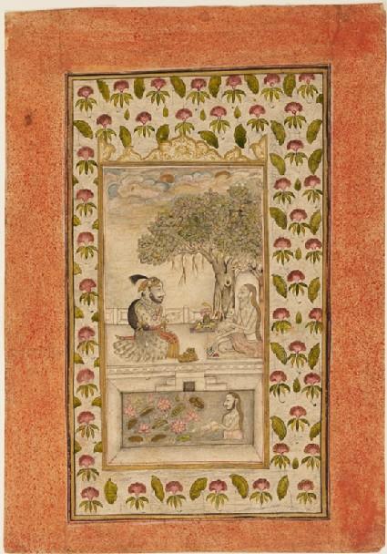 Maharana Sangram Singh II visiting a yogifront