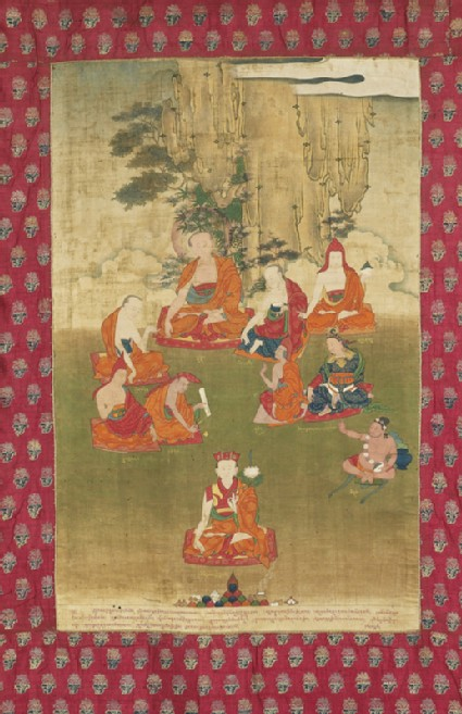 The 8th Tai Situ Lama with nine great teachersfront