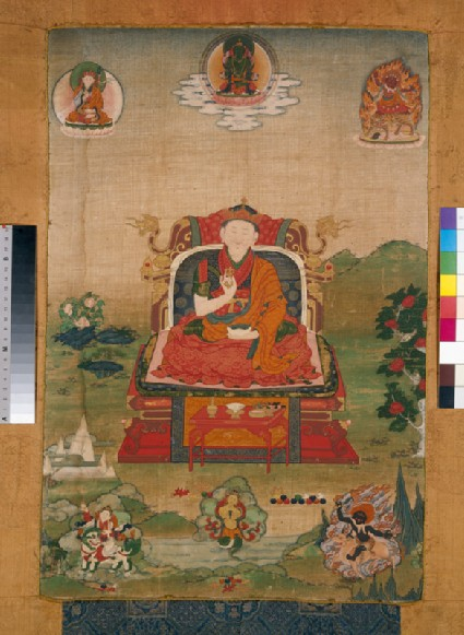 Enthroned grand lama of the Nyingmapa schoolfront